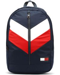 964abd8c51 Tommy Hilfiger Corporate Navy Tommy Backpack in Red for Men - Lyst