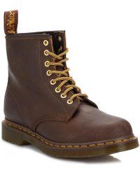 Dr. Martens - Dr. Martens 1460 Crazy Horse Aztec Brown Leather Ankle Boots - Lyst