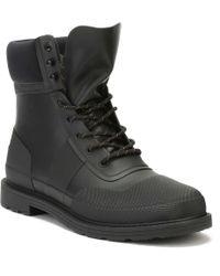 Hunter   Mens Black Original Commando Boots   Lyst