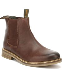 Barbour - Mens Brown Farsley Leather Chelsea Boots - Lyst