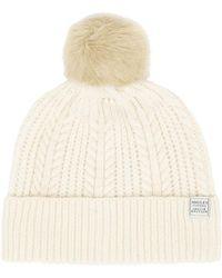 Joules - Bobble Cream Hat - Lyst
