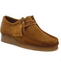 Clarks - Originals Wallabee Mens Cola Shoes - Lyst