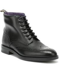 Ted Baker - Twrens Mens Black Leather Boots - Lyst