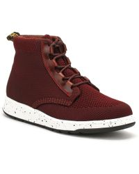 Dr. Martens - Dr. Martens Womens Burgundy Oxblood Telkes Knit Boots - Lyst