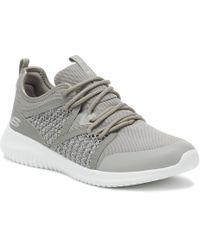 Skechers - Womens Gray Ultra Flex New Deal Sneakers - Lyst