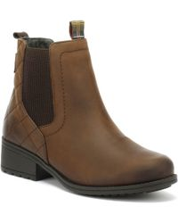 Barbour - Womens Dark Brown Rimini Chelsea Boots - Lyst