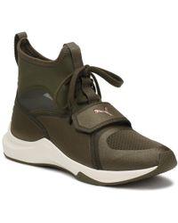 0ab89c0b3c11b7 PUMA - Womens Selena Gomez Olive Green Phenom Trainers Women s Shoes  (high-top Trainers