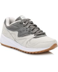 Saucony - Gray Grid 8000 Sneakers - Lyst