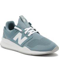 New Balance - Womens Smoke Blue / White 247 Sport Trainers - Lyst