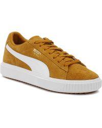 01bf9362546 PUMA Breaker Suede Gum Sneakers In White 36607902 in White for Men ...
