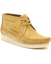 Clarks - Womens Ochre Suede Weaver Boots Women's Mid Boots In Yellow - Lyst