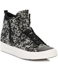 1f3efded7505 Lyst - Converse Women s Chuck Taylor Hi Winter Knit Casual Sneakers ...