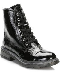 TOWER London - Tower Womens Black Patent Leather Ankle Boots - Lyst