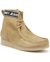 Tommy Hilfiger - Womens Sand Beige Crepe Outsole Suede Wallaby Boots - Lyst