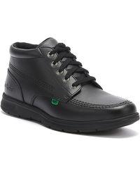 Kickers Kelland Lace Hi Black Leather Boots