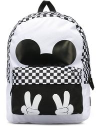 Vans - X Disney Checkerboard Mickey Realm Backpack - Lyst