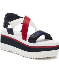 Tommy Hilfiger - Sporty Neoprene Flatform Sandals - Lyst