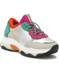 Bronx - Womens Off White / Silver Baisley Chunky Trainers - Lyst