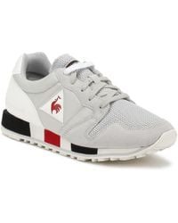Le Coq Sportif - Omega Nylon Trainers In Galet Grey 181f085 Men's Shoes (trainers) In Grey - Lyst
