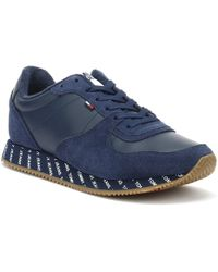 959cc093e9dc58 Jeans Casual Womens White Trainers.  111. TOWER London · Tommy Hilfiger -  Jeans Casual Womens Navy Trainers - Lyst