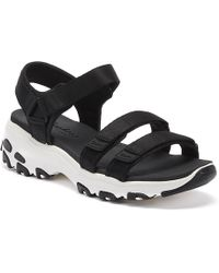Skechers - D'lites Fresh Catch Womens Black Sandals - Lyst