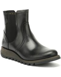 Fly London - Womens Black Scon Rug Boots - Lyst