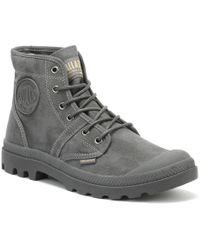 Palladium - Pallabrousse Wax Mens Grey Boots - Lyst
