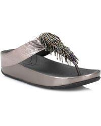 Fitflop - Womens Cha Cha Nimbus Silver Sandals - Lyst