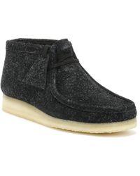 Clarks - Originals Womens Black Interest Wallabee Boots - Lyst