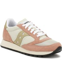 615cd95a8aef Saucony - Womens Tan   Muted Clay Jazz Original Vintage Trainers - Lyst