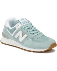 New Balance - Womens Glacier Blue 574 Trainers - Lyst