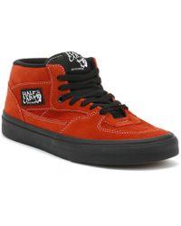 94649753fce456 Vans - Mens Bossa Nova Red   Black Half Cab Trainers - Lyst