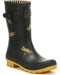 Joules - Womens French Black Dragonfly Molly Wellies - Lyst