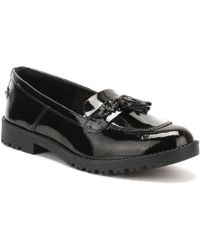 Kickers - Womens Black Patent Leather Lachly Tass Loafers - Lyst