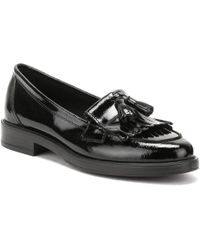 TOWER London - Womens Black Naplack Leather Tassel Loafers - Lyst
