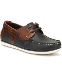 Barbour | Mens Navy/brown Capstan Boat Shoes | Lyst