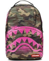 Sprayground - Pink Stencil Camo Shark Backpack - Lyst