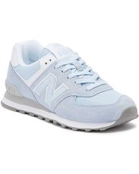 New Balance - Womens 574 Blue Classic Trainers - Lyst