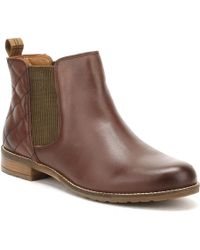 Barbour - Womens Wine Brown Abigail Chelsea Boots Women's Low Ankle Boots In Brown - Lyst