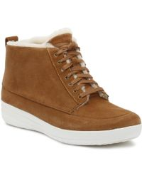 b8a8898a60520 Fitflop - Womens Tan Stefanie Shearling Ankle Boots - Lyst