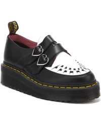 Dr. Martens Dr. Martens X Lazy Oaf Buckle Creeper Womens Black / White Shoes