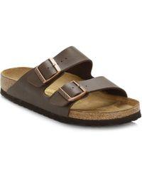 Birkenstock - Brown Arizona Birko-flor Sandals - Lyst