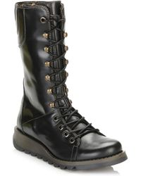 Fly London - Womens Black Ster768fly Leather Boots - Lyst