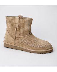 UGG - UGG W Classic Unlined Mini Perf Tawny Boots - Lyst