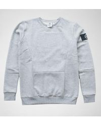 Hype - Mens Crewneck Insignia Panelle Grey Jumpers & Cardigans - Lyst