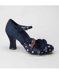 Ruby Shoo - Ruby Shoo Dee Navy Spots Shoes - Lyst