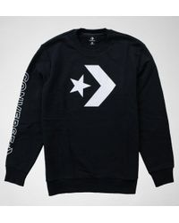 Converse - 10006434 Star Chev Grphc Crew Jumpers & Cardigans - Lyst