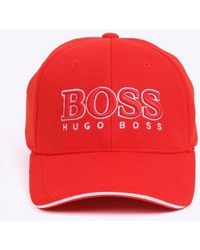 e839a627dcb Lyst - Boss Cap Us in Red for Men