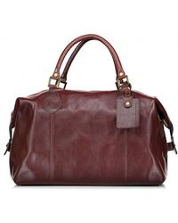 Barbour - Leather Medium Travel Bag - Lyst