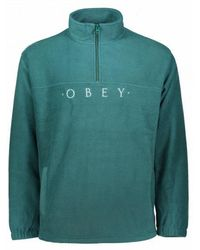 Obey - Mountain Mock Zip - Lyst